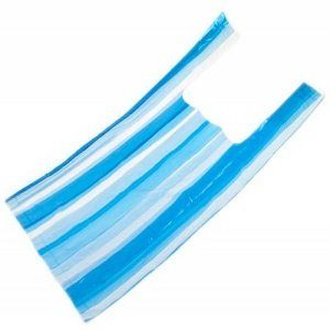 Пакет Майка 32 х 60(20мкм) Синяя полоса (упак/100шт)